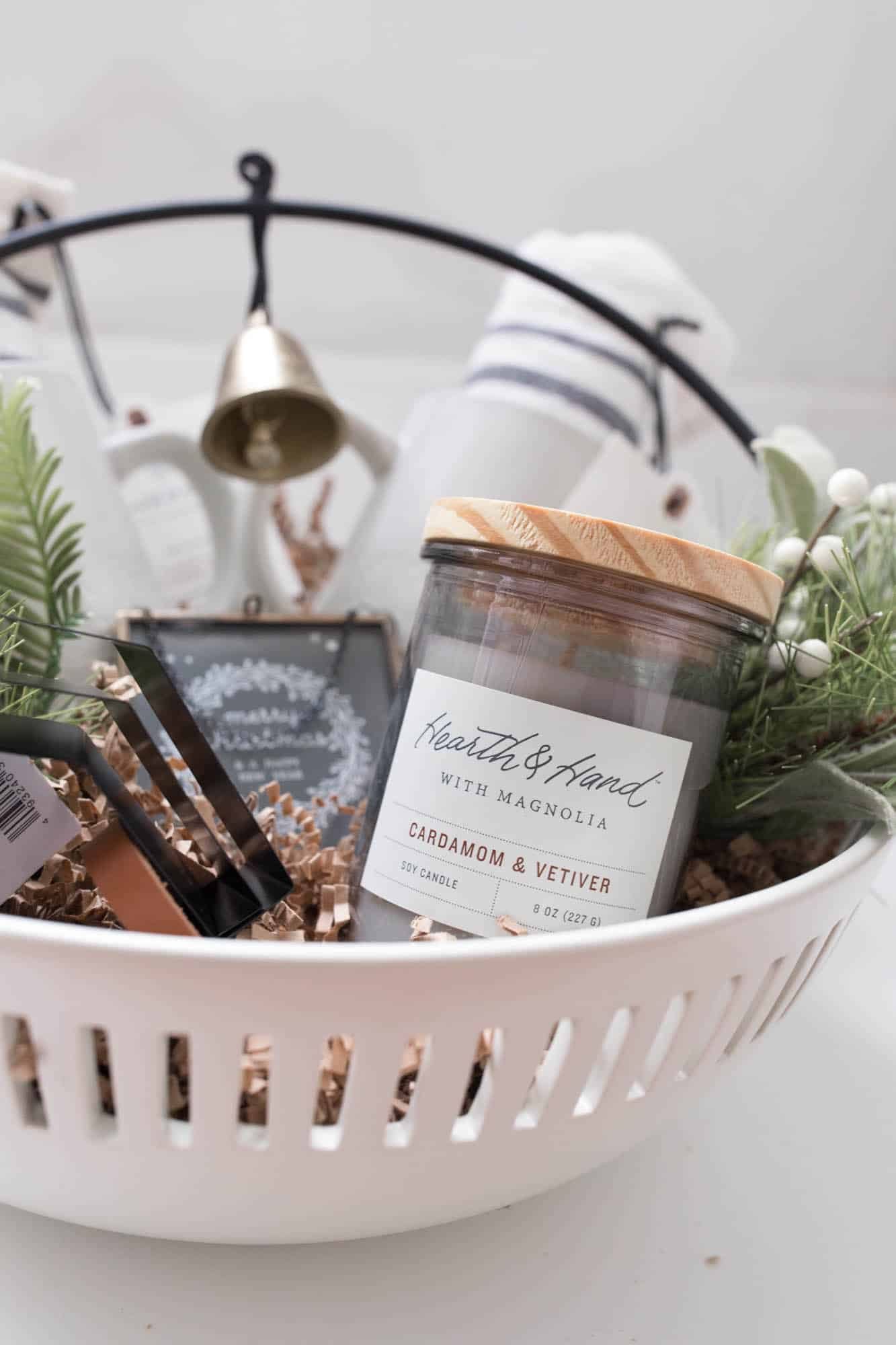 Hearth and Hand by Magnolia Cardamom and Vetiver Soy Candle Gift Basket