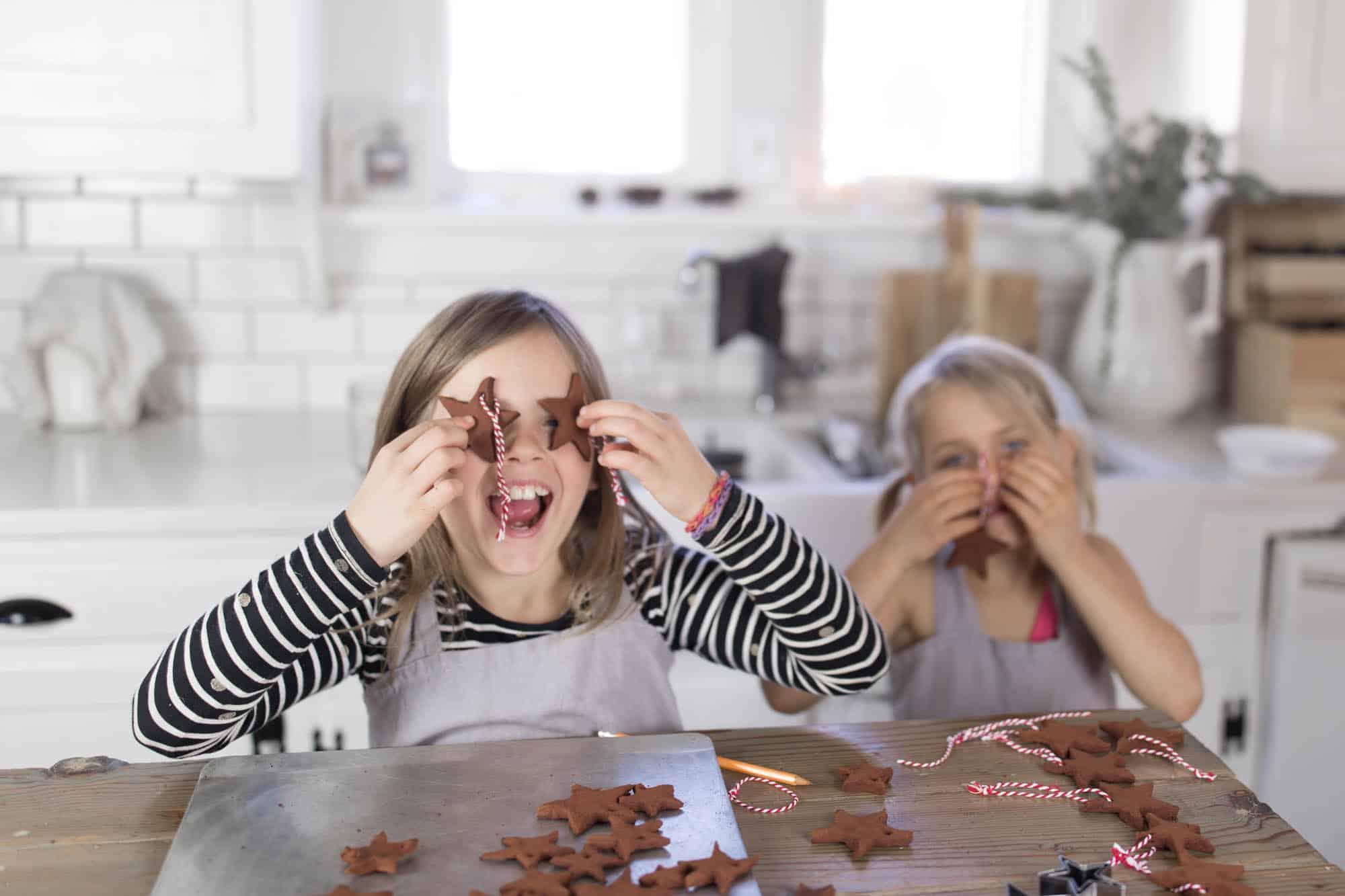 DIY Applesauce Cinnamon Ornaments Homemade Christmas Decorations with Kids