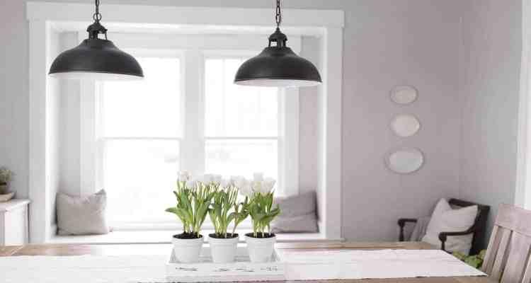 Simple Potted Tulip Centerpiece