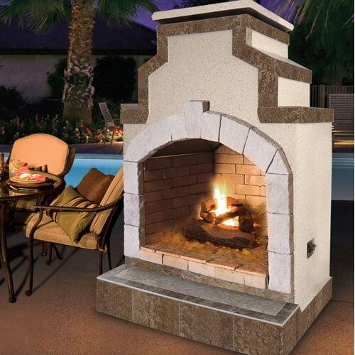 Ahmier Terrace Heater Steel Wood Burning Outdoor Fireplace ... on Quillen Steel Outdoor Fireplace  id=45563
