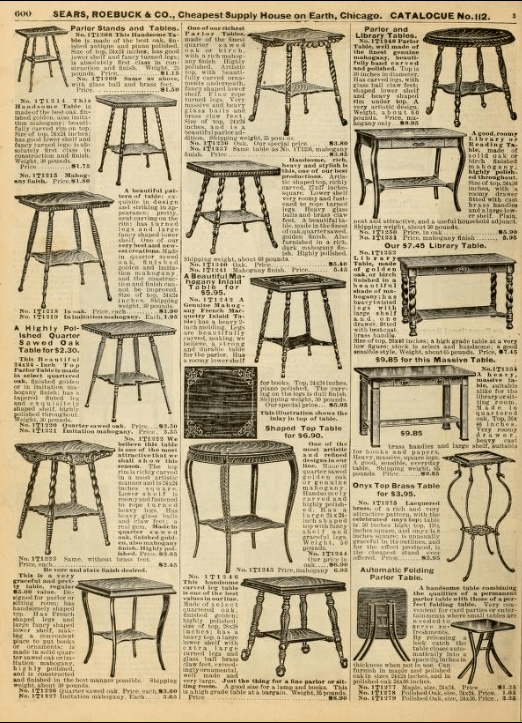 From Sears Catalog no. 112. 1906.