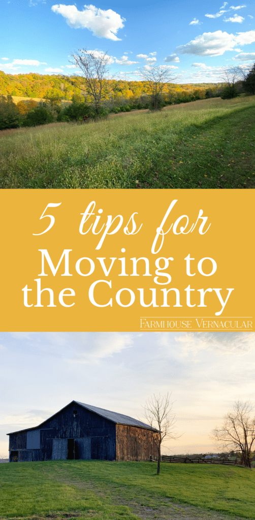 tips for moving to the country