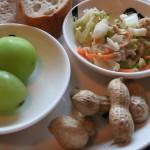 野菜パックを使った朝食