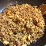 タケノコひき肉レタス包み