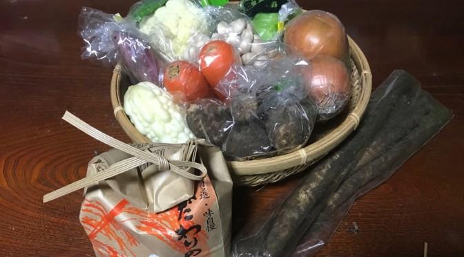 野菜パックを発送しました(2018年10月20日)