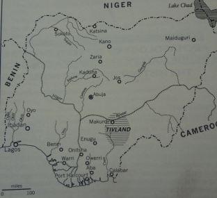 Map of Tiv land