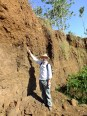 Charly discussing the soil profile RB01 along the Embobut River