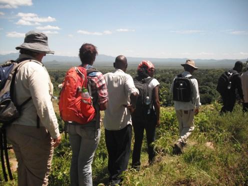 Trekking along the escarpment
