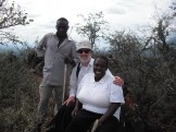 Martin and Helena discuss oral histories with a local farmer