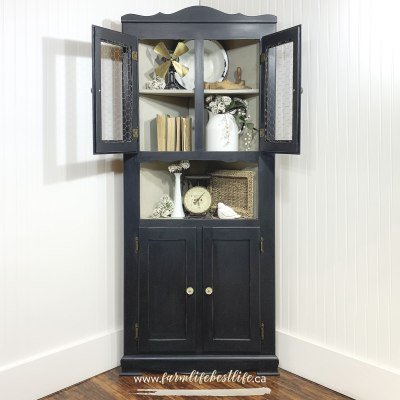 Farmhouse Corner Cabinet