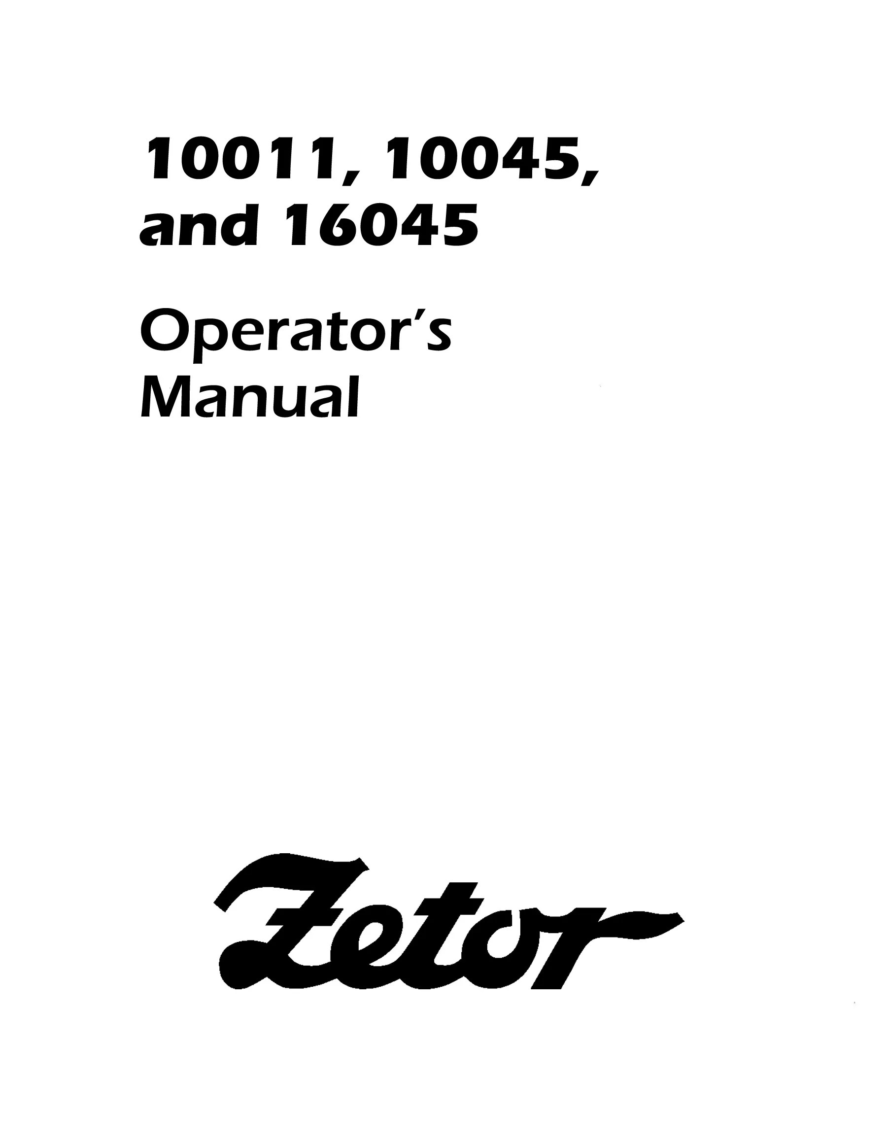 Zetor And Tractor Manual