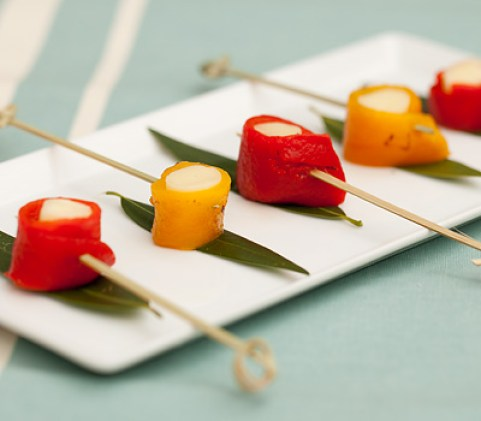 Roasted Pepper Skewers