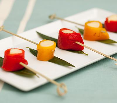 Roasted Pepper Skewers