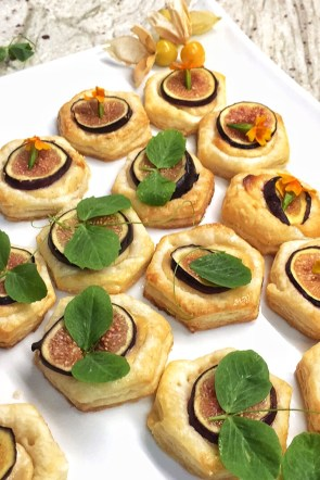 Lavender and Fig Tarts with Goat Cream Cheese
