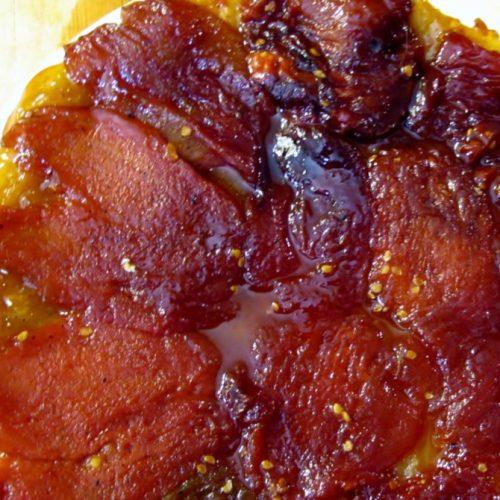 Tomato tarte tatin made with heirloom tomatoes