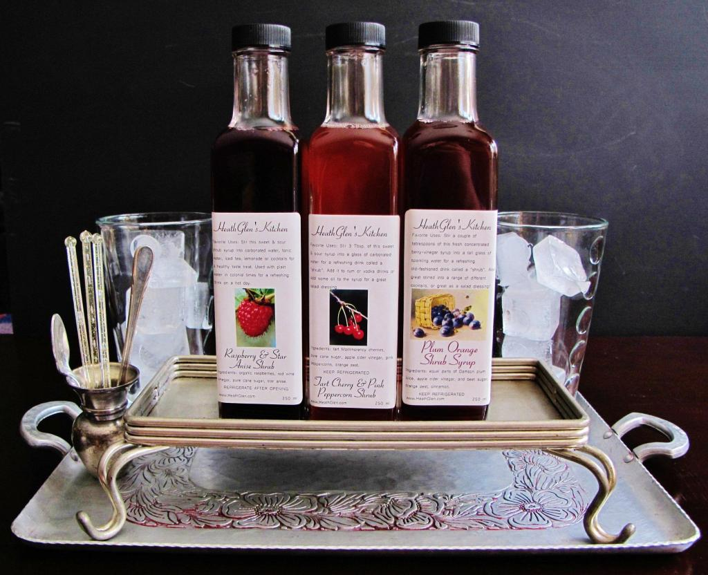 Trio of Shrub Syrups