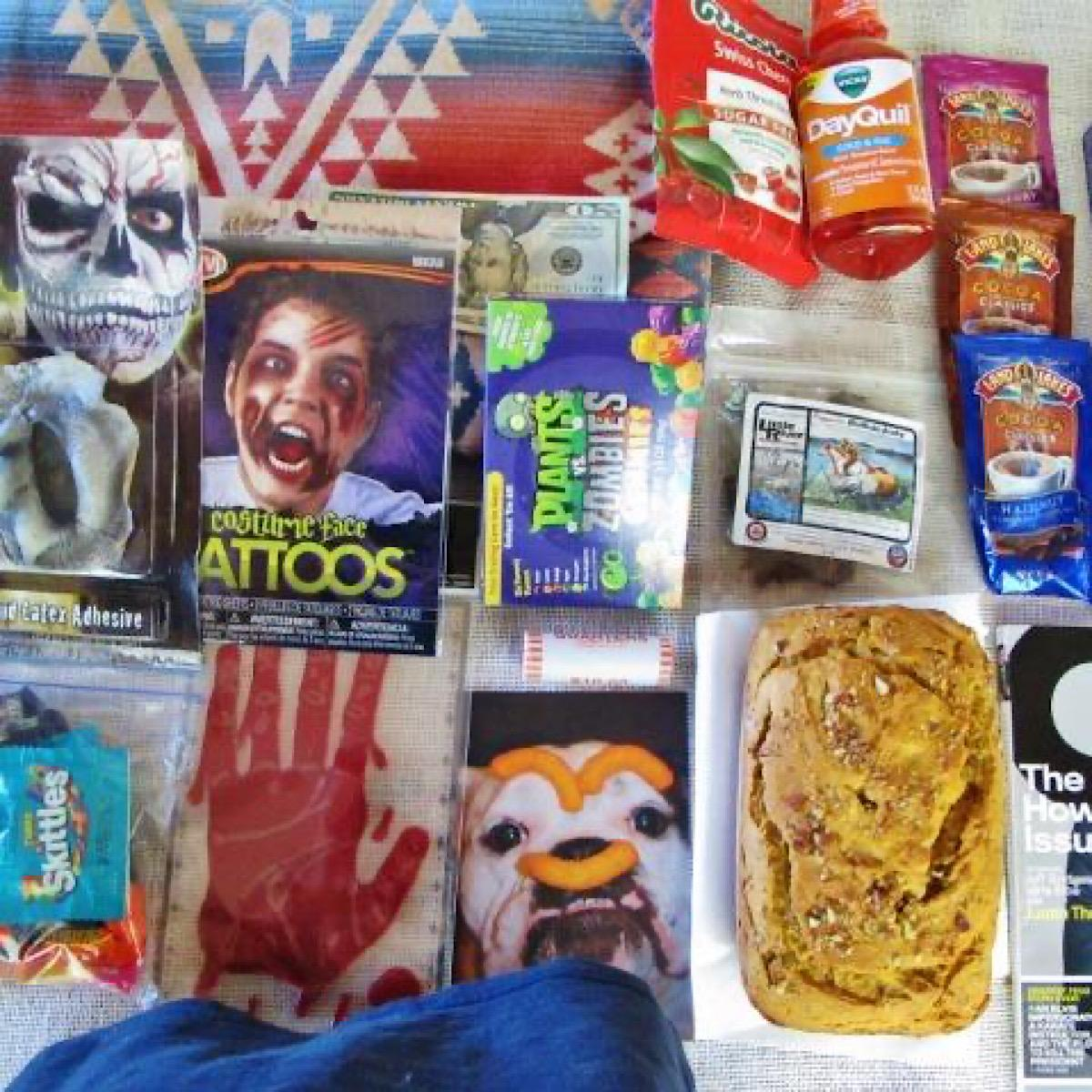 Halloween college care package for the boy