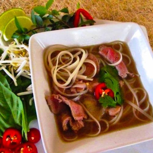 Low carb Vietnamese Beef Pho made in slow cooker