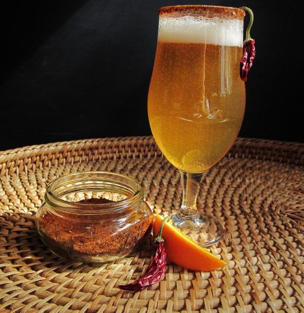 Spicy Michalada (Beer & Orange Chipotle Shrub Syrup)