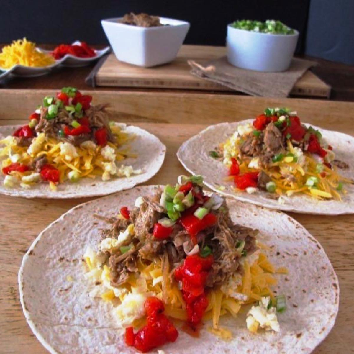 Example of tacos made from a low carb taco bar