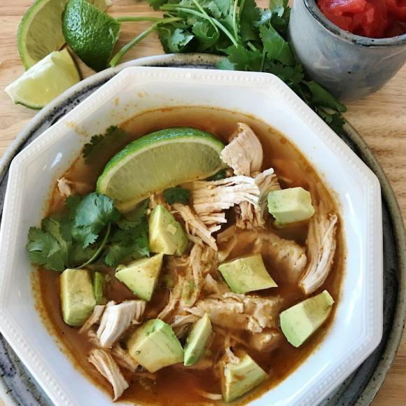 Low carb Mexican Chicken Lime Soup