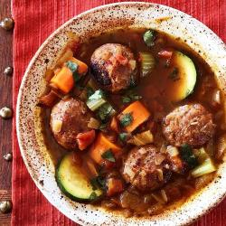 Low carb Mexican meatball soup (Albondigas)