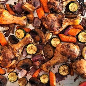 Low Carb Jerk Chicken Sheet Pan Dinner Recipe