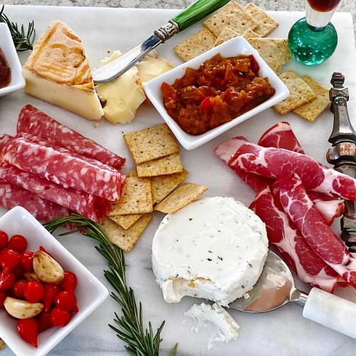 Example of a low carb cheese plate