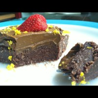 Orange & Sea Salt Laced Brownies. [complete with chocolate frosting]