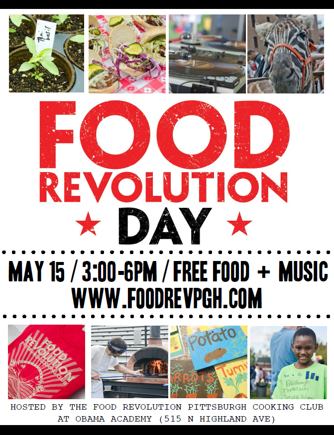 Share the Food Revolution Day Pittsburgh Flyer