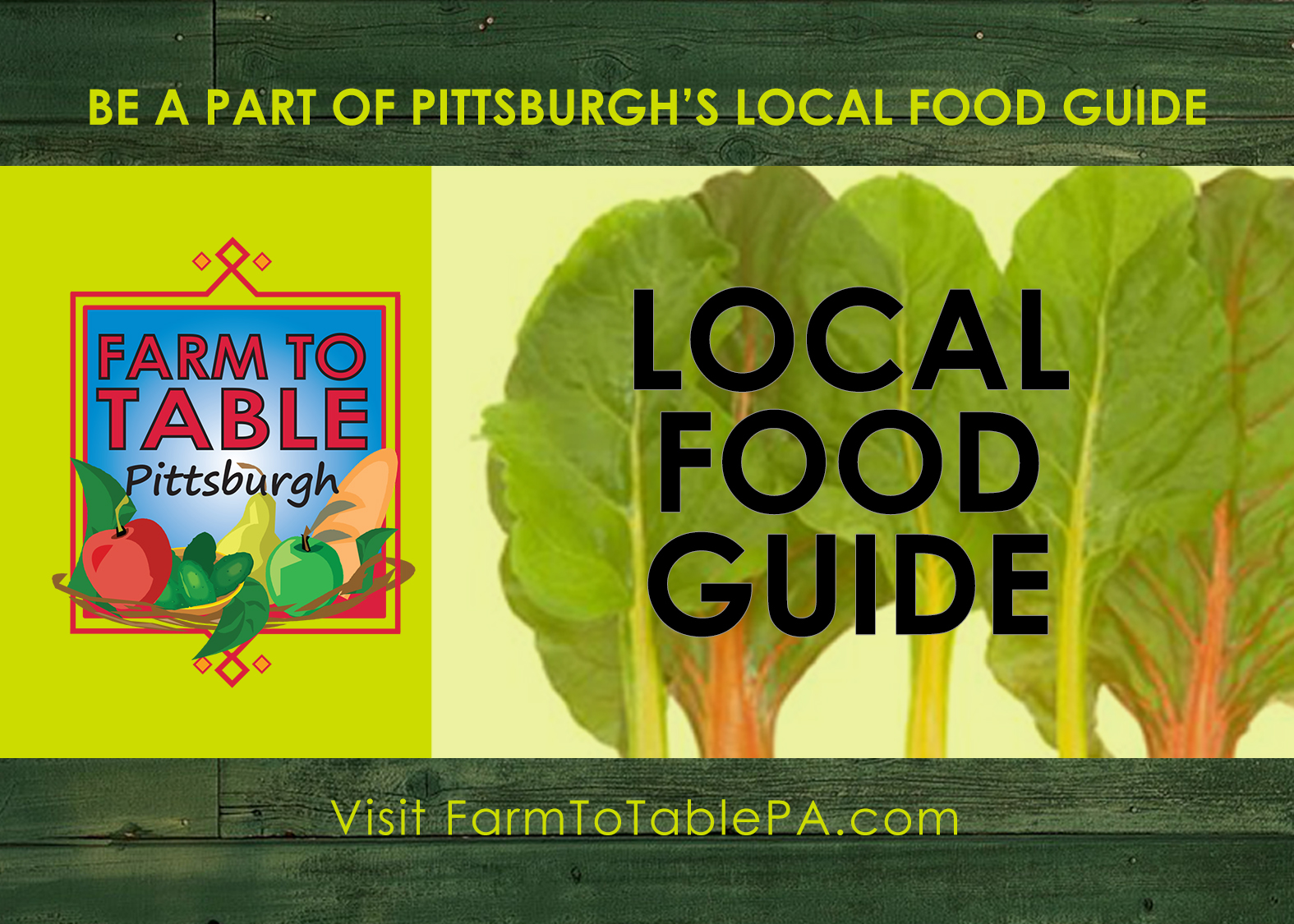 Western PA Local Food Guide – Call for Submissions – due 1/15/19