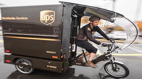 UPS Electric Trike Package Car