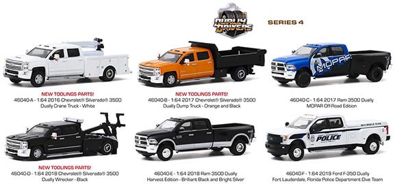 Greenlight Collectibles Dually Drivers Series 4 Set of 6