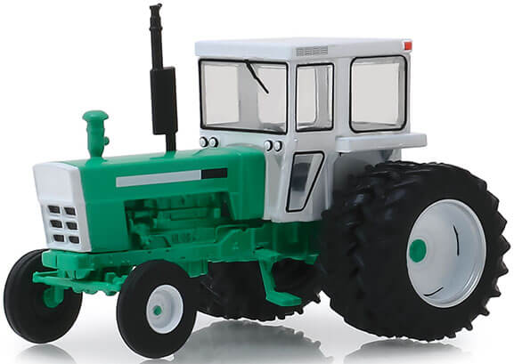 1972 Tractor with Dual Rear Wheels & Cab (Green/White)