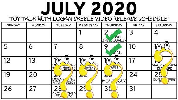 July 2020 Release Schedule