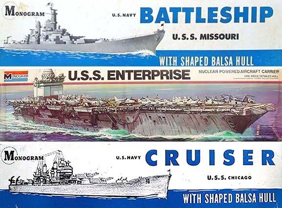 Monogram Model Ship Kits