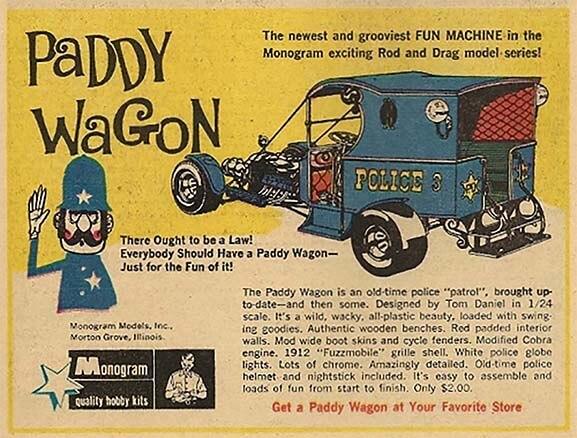 "Monogram ""Paddy Wagon"" Advertisement"