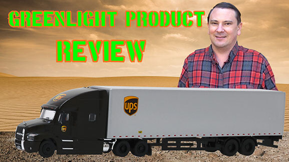 1:64th Scale UPS – United Parcel Service Feeder Truck – Mack Anthem Tractor Trailer by Greenlight