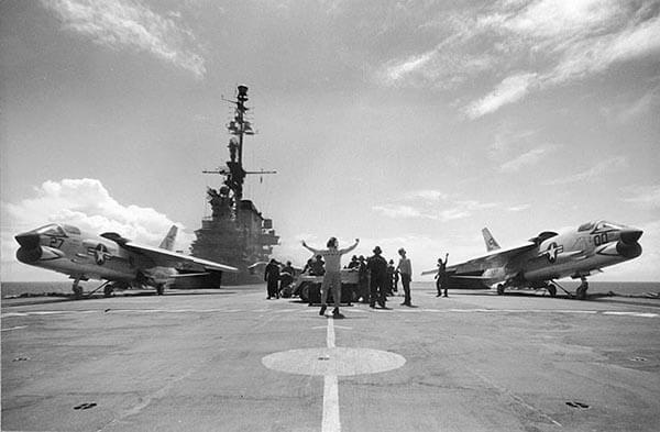 F-8 Crusader Take Off From USS Midway (CVA-41) 1963