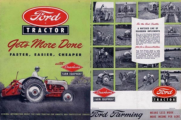 Vintage Ford Farming Brochure Cover