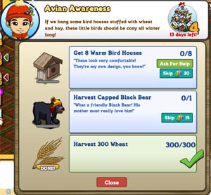 farmville winter badger quest 4