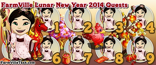 FarmVille Lunar New Year 2014 Quests