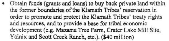 Klamath Tribes Economic Revitalitation