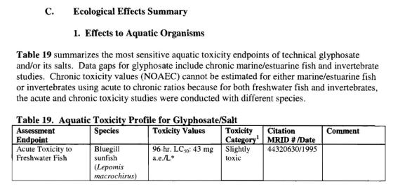 EPA Assessment Glyphosate Potassium Salt3