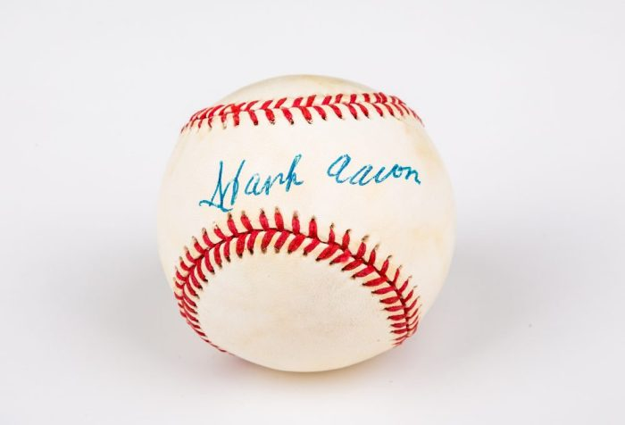 Hank Aaron autographed baseball