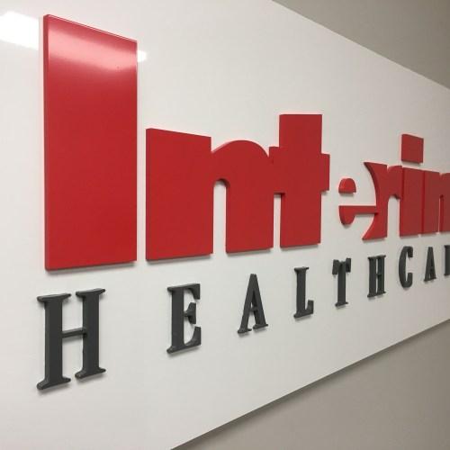 Interim Healthcare Interior Dimensional Letters/ Logo