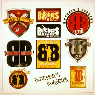 Butcher burger logo design brand creation examples