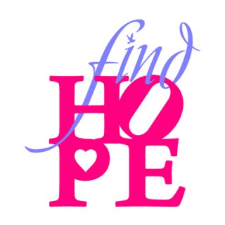 Find Hope Philly custom logo Brand Creation