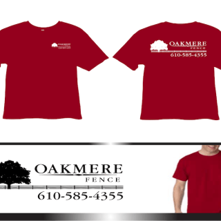 Oakmere Fencing custom branded tee shirt with logo