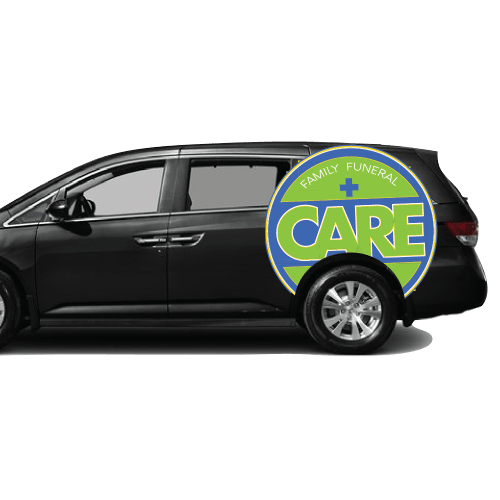Family Funeral Care partial van wrap and graphics vehicle graphics